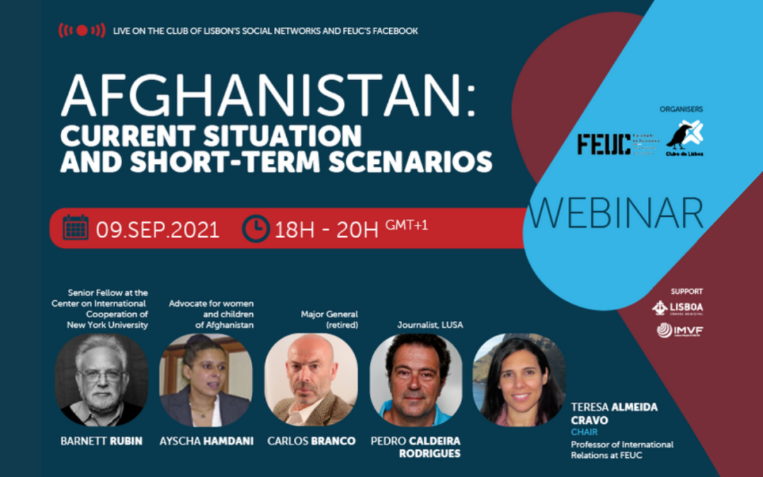 """Webinar """"Afghanistan: current situation and short term scenarios"""" 